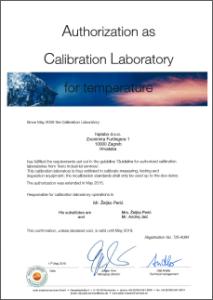 Certifikat-temperatura